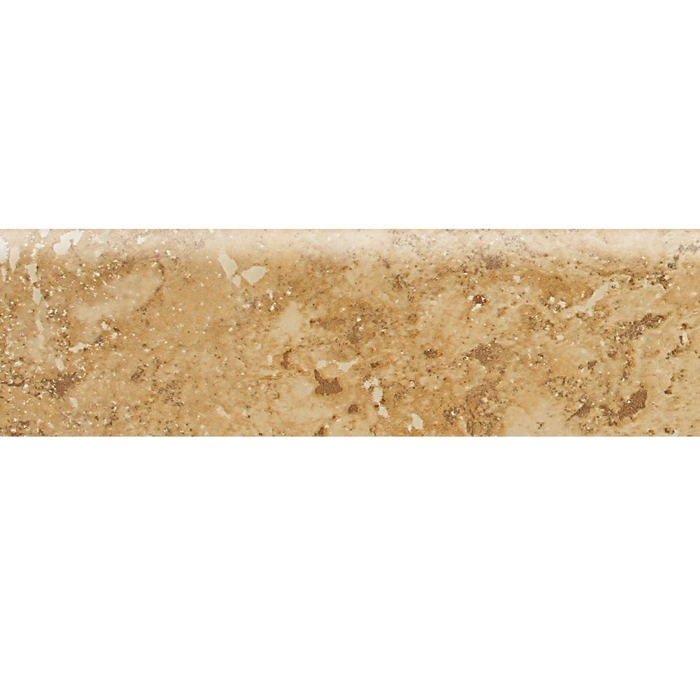 Daltile Heathland Amber 3 in. x 12 in. Glazed Ceramic Bullnose Floor and Wall Tile