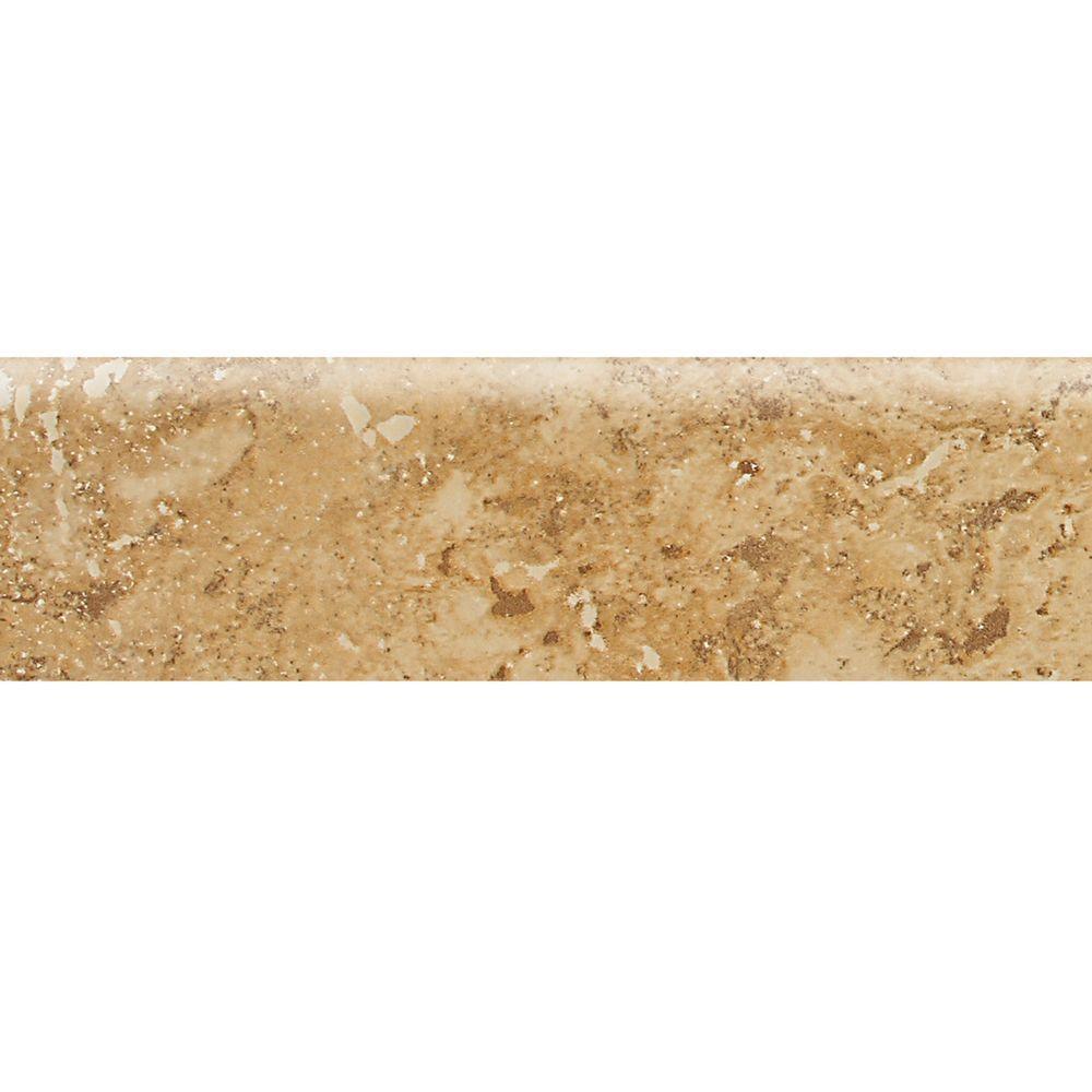 Daltile tile trim tile the home depot glazed ceramic bullnose floor dailygadgetfo Images