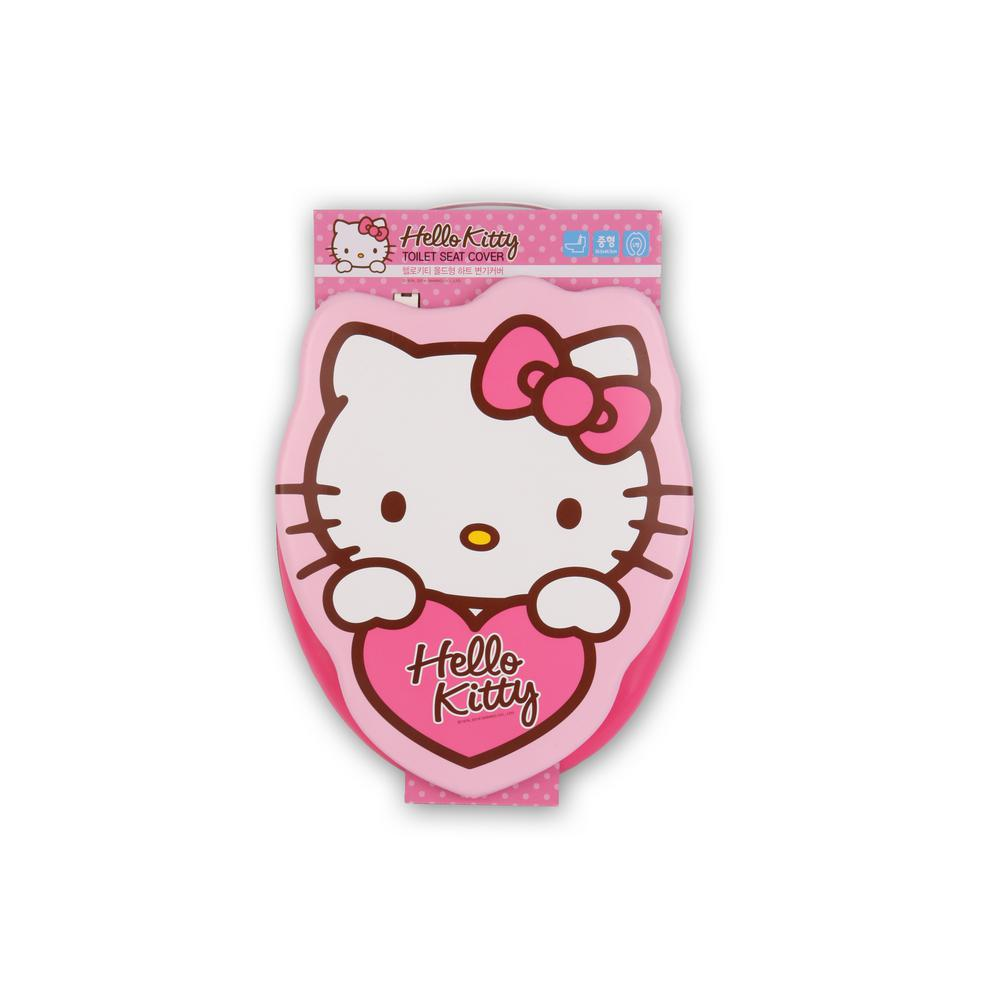 36fb743db6 Hello Kitty HK Round Closed Front Soft Padded Toilet Seat in Pink-HK ...