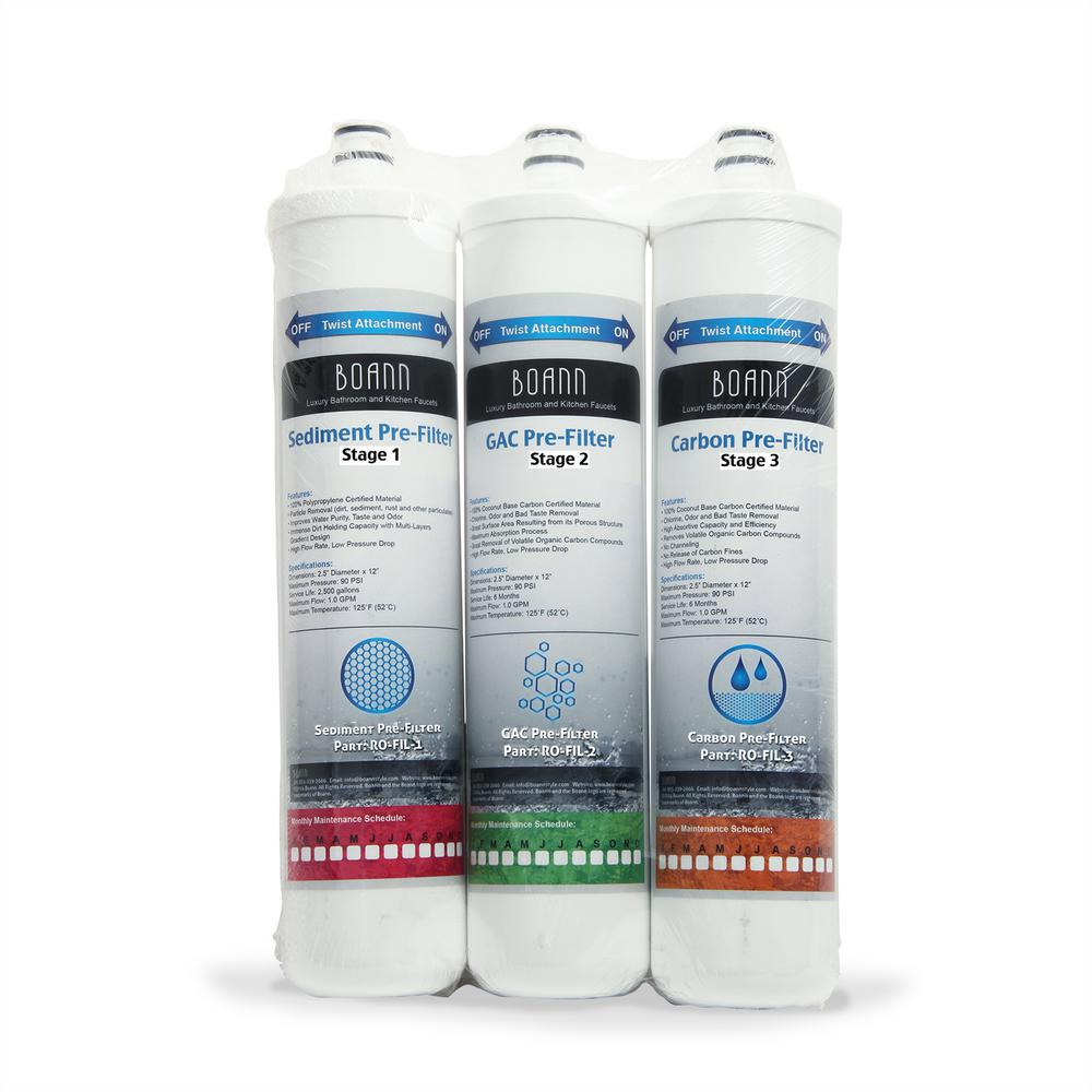 6-Month Filter Pack Reverse Osmosis Water Filtration System