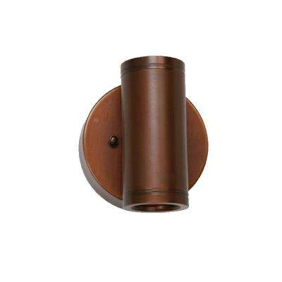 5.5 in. 2-Light Matte Bronze Outdoor Wall Mount Lantern