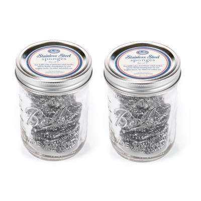 3-Stainless Steel Sponges in Mason Jar (Set of 2)