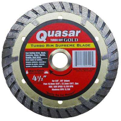 Turbo Kut Gold 4-1/2 in. Turbo Rim Supreme Diamond Blade