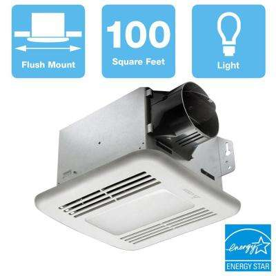 GreenBuilder Series 100 CFM Ceiling Bathroom Exhaust Fan with Dimmable LED Light, ENERGY STAR