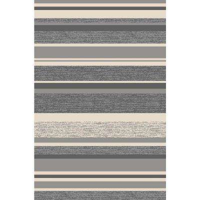 Hamam Collection Grey 1 ft. 6 in. x 2 ft. 7 in. Rubber Back Area Rug