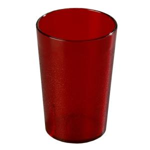 Carlisle 24 Oz San Plastic Stackable Tumbler In Ruby Case Of 72 522410 The Home Depot