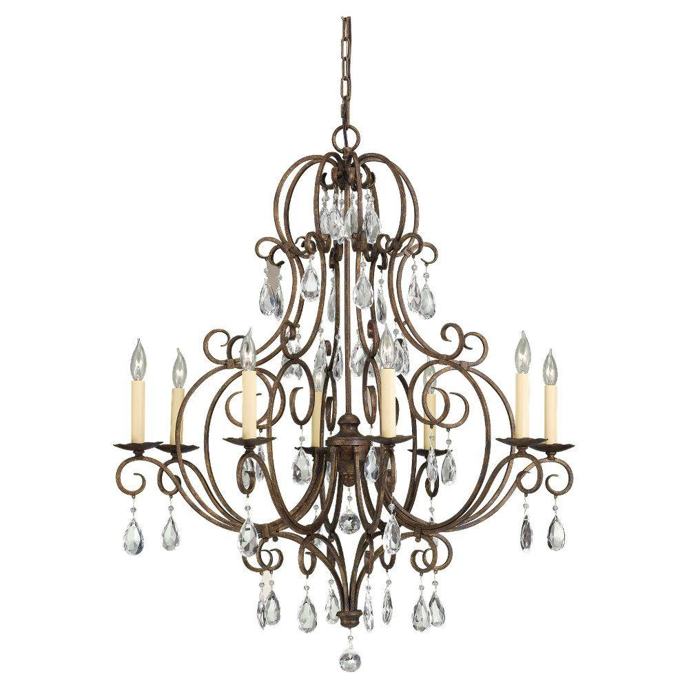 Feiss Chateau 8-Light Mocha Bronze Single Tier Chandelier