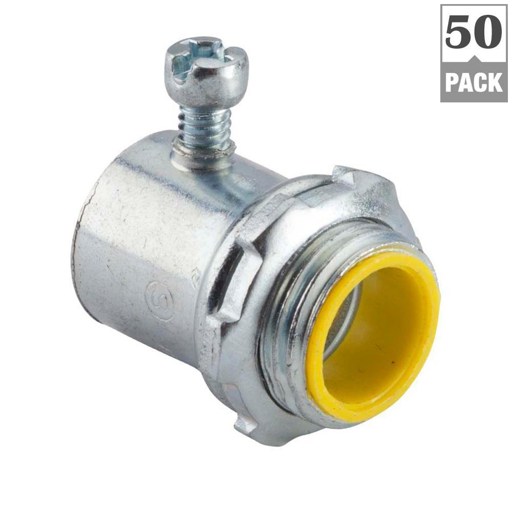 Halex 3/8 in. Non-Metallic (NM) Twin-Screw Cable Clamp Connectors (5 ...