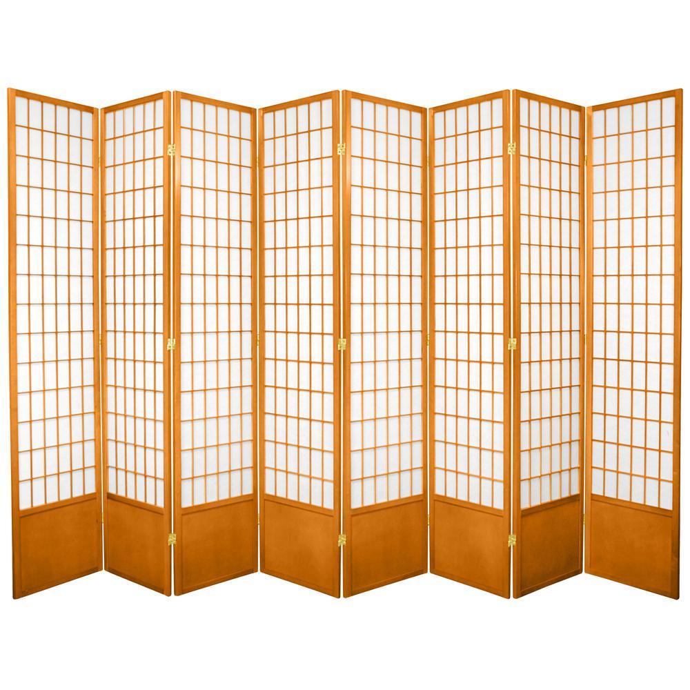 7 ft. Honey 8-Panel Room Divider