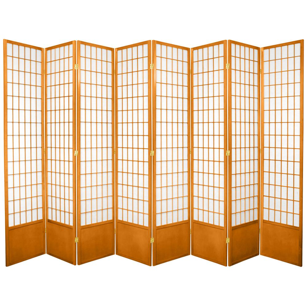 7 ft. Honey 8-Panel Room Divider