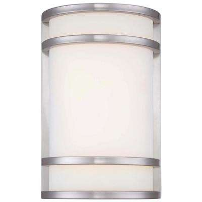 Bay View 1-Light Brushed Stainless Steel Outdoor LED Pocket Lantern