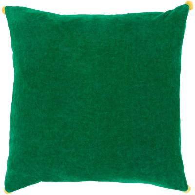 Zorrilla Green Solid Polyester 18 in. x 18 in. Throw Pillow
