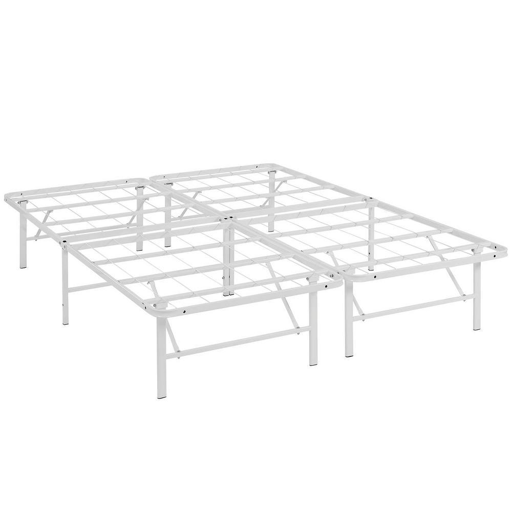 Horizon White Full Stainless Steel Bed Frame