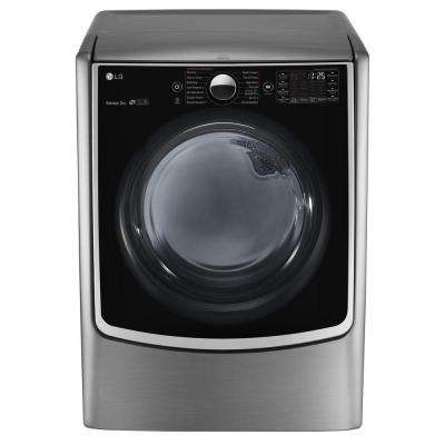 7.4 cu. ft. Smart Electric Dryer with Steam and WiFi Enabled in Graphite Steel, ENERGY STAR