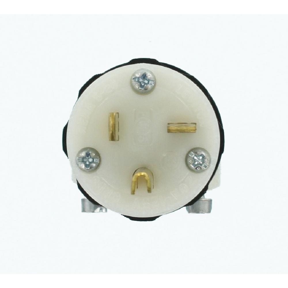 leviton 20 amp 125 volt hospital grade straight blade plug black rh homedepot com