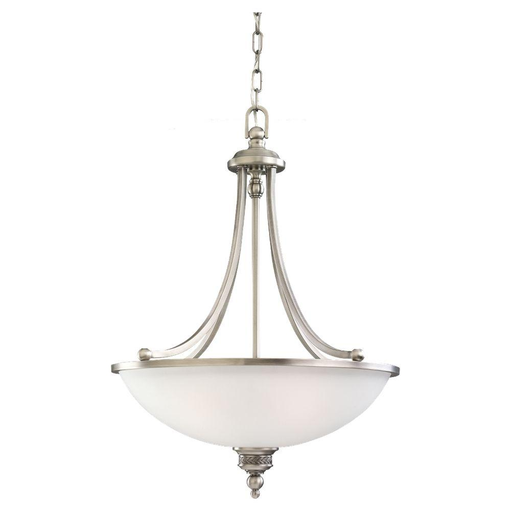 Laurel Leaf 3-Light Antique Brushed Nickel Pendant