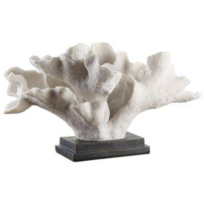 14.75 in. Resin Coral Decorative Sculpture in White