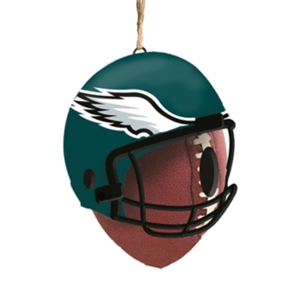 Philadelphia Eagles 6.5 in. x 7.5 in. x 8 in. Polystone Hat/Helmet Ball Birdhouse