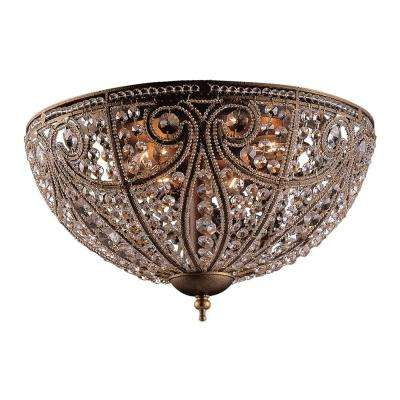 Elizabethan 6-Light Dark Bronze Ceiling Flushmount