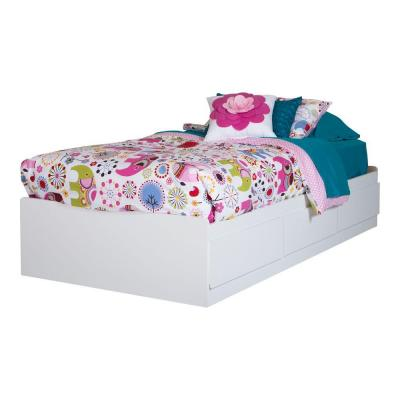 Vito Twin-Size Bed Frame in Pure White