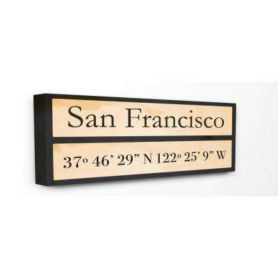 "10 in. x 24 in. ""Wood City Coordinates San Francisco"" by Daphne Polselli Printed Canvas Wall Art"