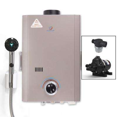 Eccotemp L7 1.7 GPM Portable 40,000 BTU Liquid Propane Outdoor Tankless Water Heater  with Eccoflo Water Pump & Strainer