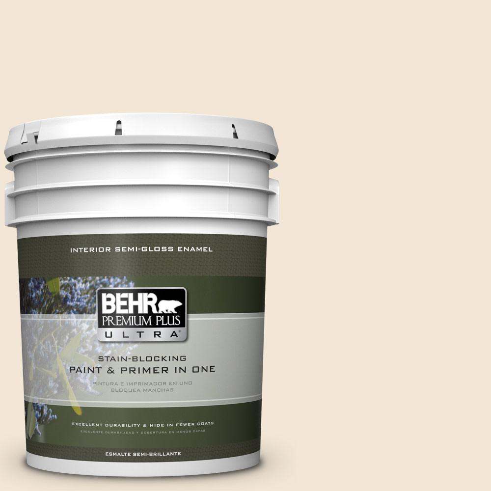5 gal. #HDC-FL14-1 Spooky Ghost Semi-Gloss Enamel Interior Paint