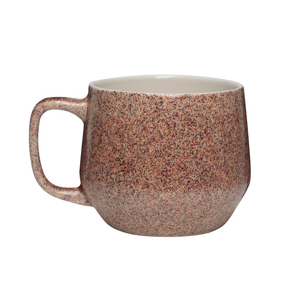 Primitive Granite 22 oz. Earth Tone Ceramic Coffee Mug