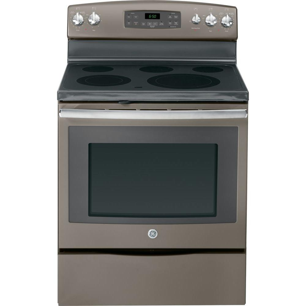 GE 5.3 cu. ft. Electric Range with Self-Cleaning Oven in Slate