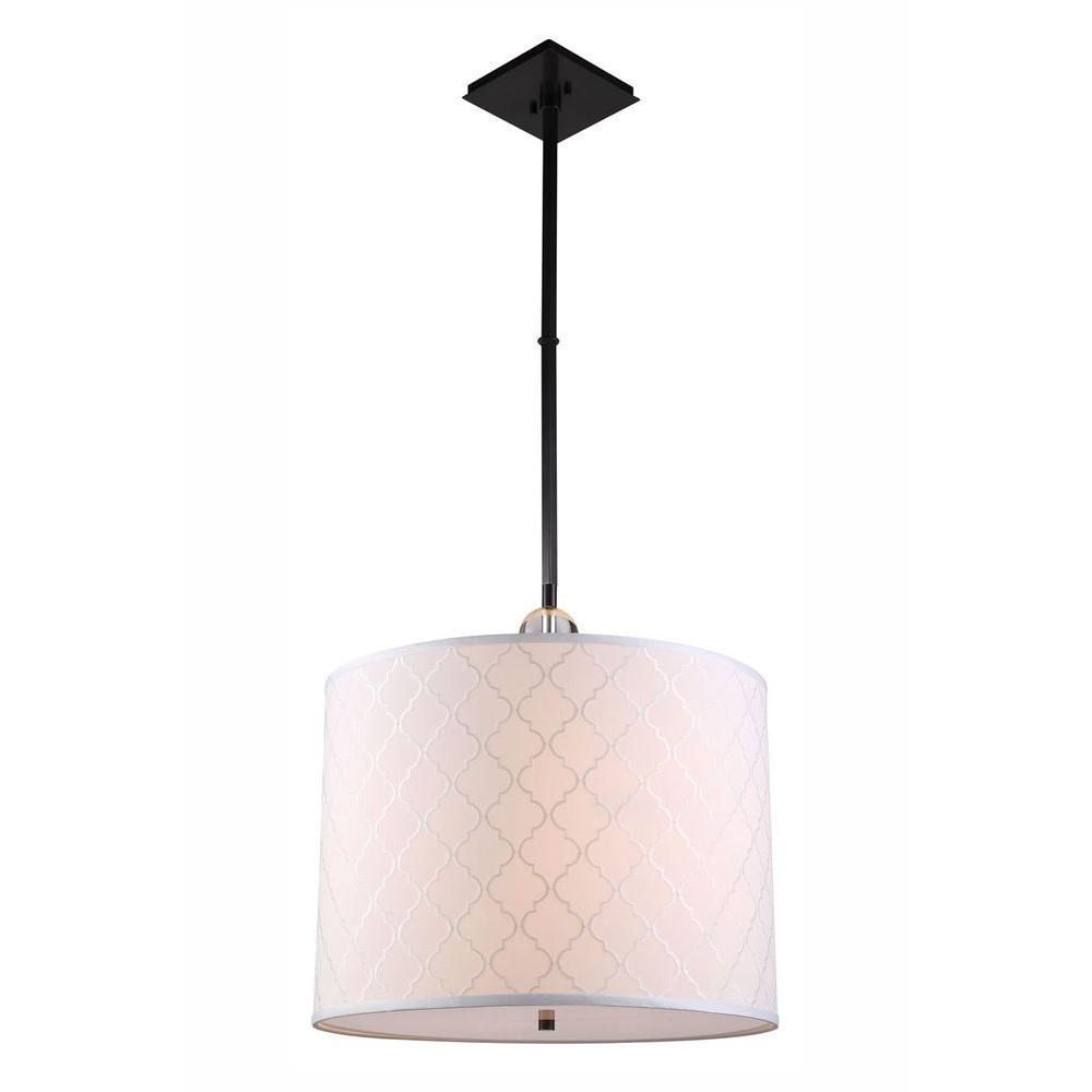 Gemma 2-Light Bronze Pendant Lamp