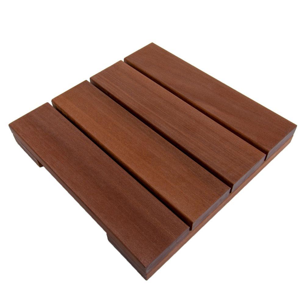 WiseTile 1 ft. x 1 ft. Solid Hardwood Deck Tile in Exotic Massaranduba (4 per case)
