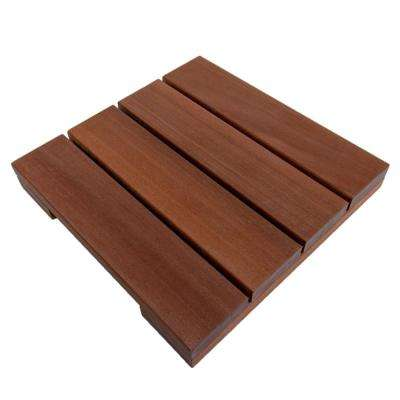WiseTile 1 ft. x 1 ft. Solid Hardwood Deck Tile in Exotic Massaranduba (4 per case)