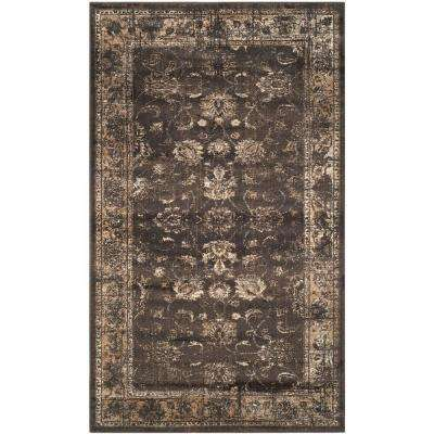 Vintage Soft Anthracite 3 ft. 3 in. x 5 ft. 7 in. Area Rug