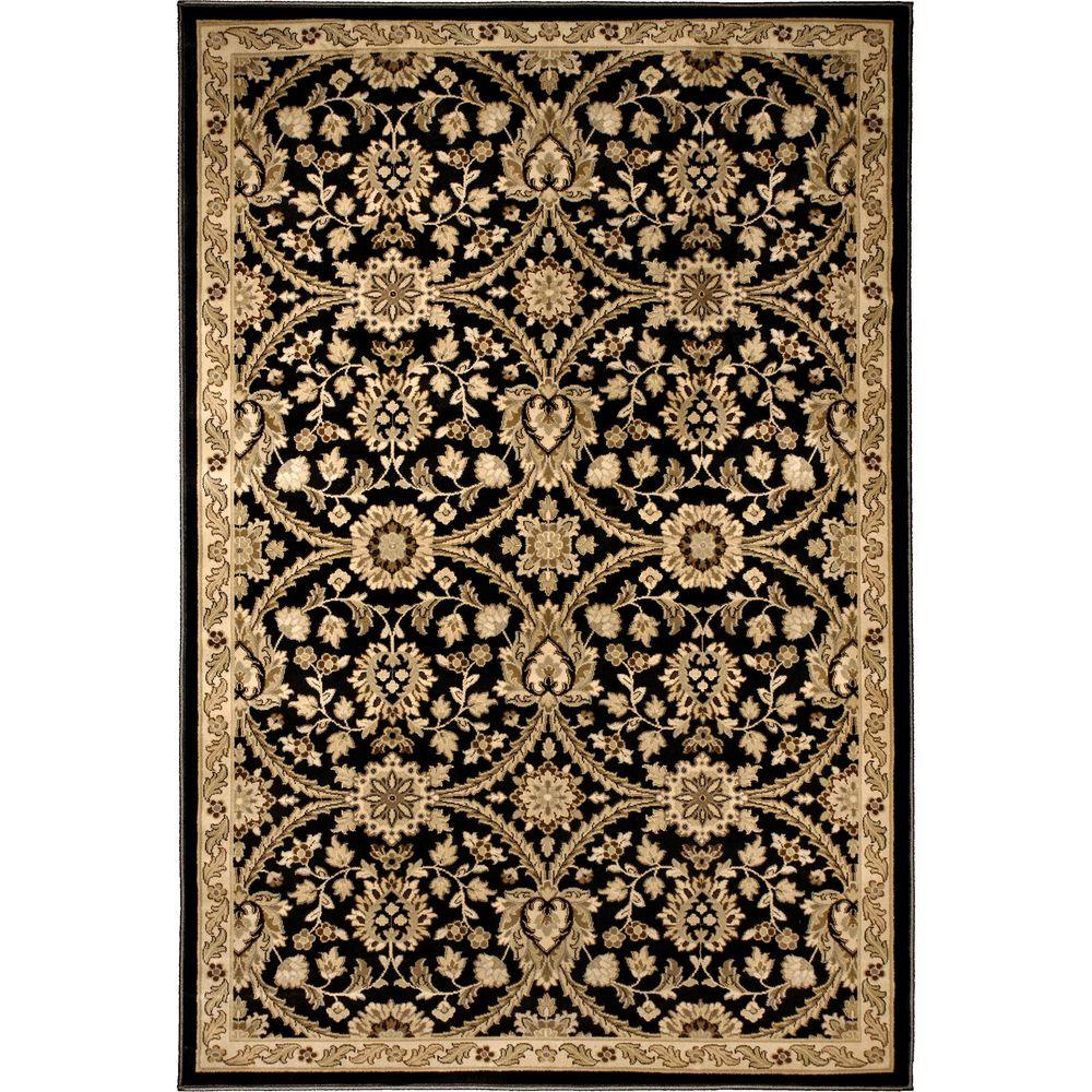 null Fabris Gainsboro Grey 5 ft. 3 in. x 7 ft. 6 in. Area Rug