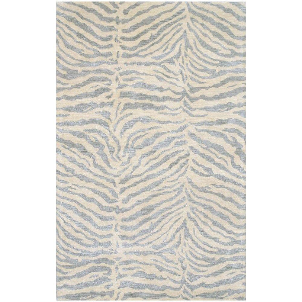 BASHIAN Greenwich Collection Safari Light Blue 8 ft. 6 in. x 11 ft. 6 in. Area Rug