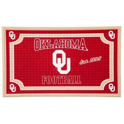 University of Oklahoma 18 in. x 30 in. Embossed Welcome Mat