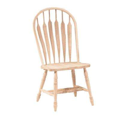Unfinished Wood Steam Bent Arrow Back Windsor Dining Chair