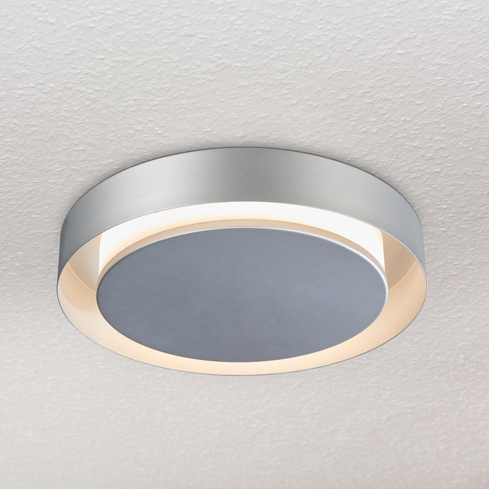 a6a4e9d5cef4 VONN Lighting Talitha Collection 16 in. Silver/Nickel LED Modern Halo  Ceiling Fixture