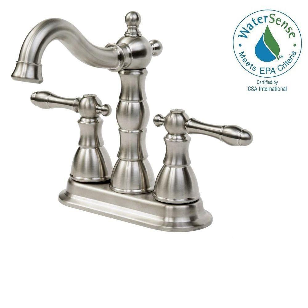 Glacier Bay Lyndhurst 4 In Centerset 2 Handle Bathroom Faucet In