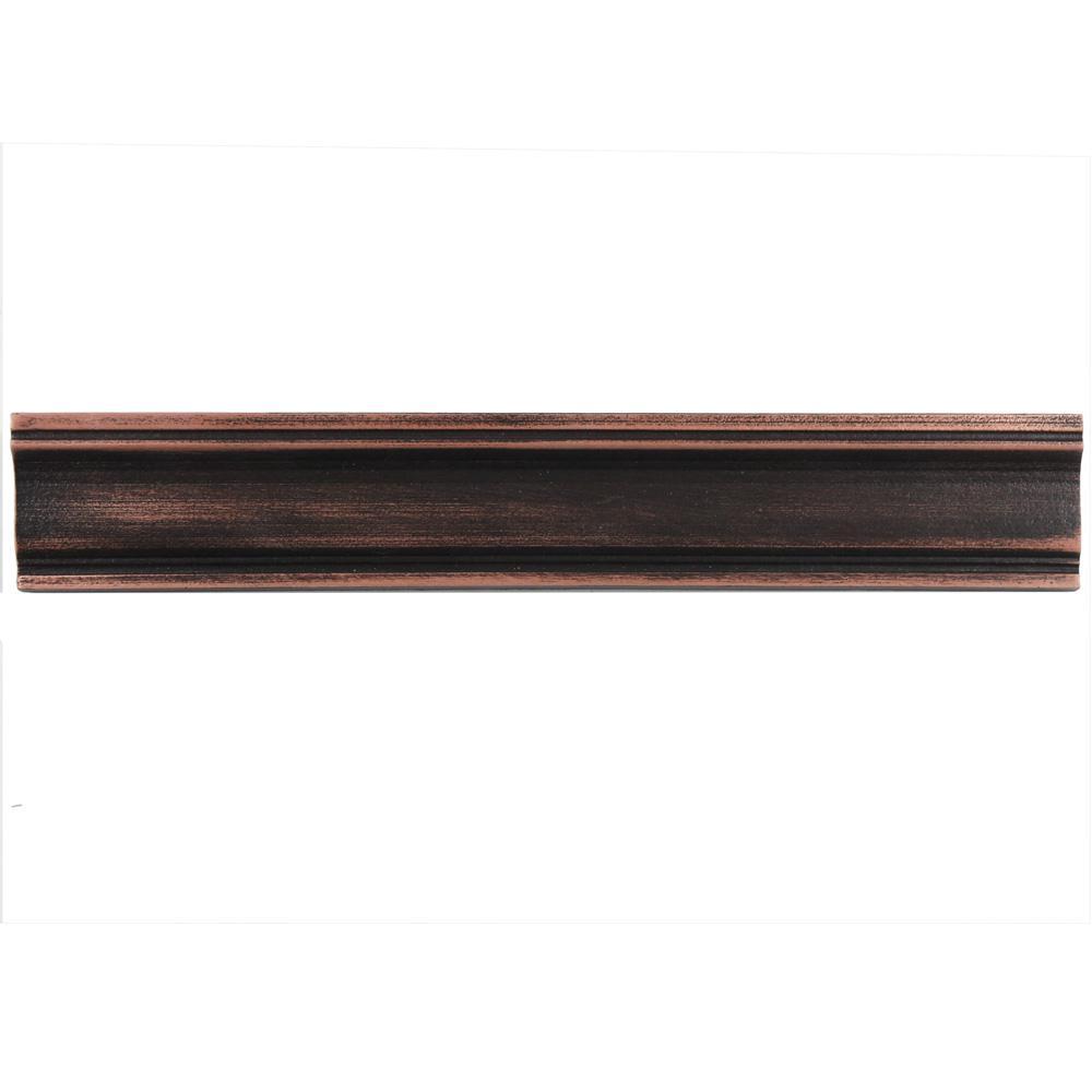 merola tile contempo piazza venetian bronze moldura 2 in x 12 in metallic wall trim tile. Black Bedroom Furniture Sets. Home Design Ideas