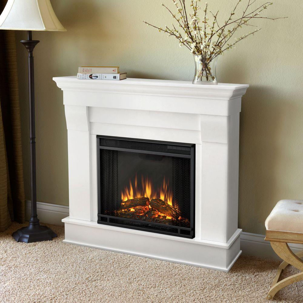 Real Flame Chateau 41 in. Electric Fireplace in White-5910E-W ...