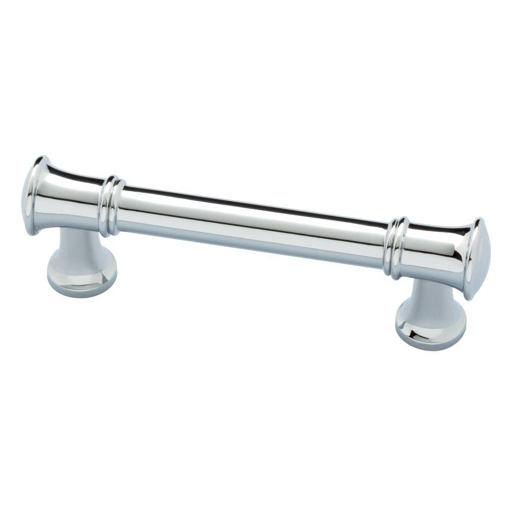 Silverton 3 In 76mm Polished Chrome Drawer Pull