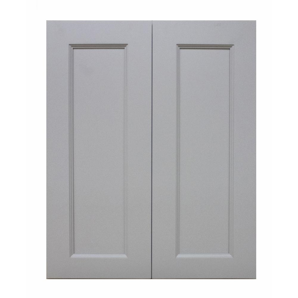 Krosswood Doors Modern Craftsman Ready To Assemble 30x30x12 In. Wall Cabinet  With 2 Door 2