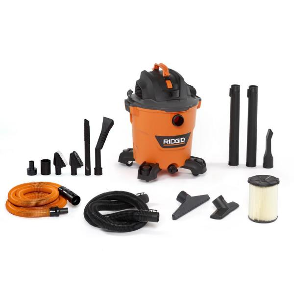 12 Gal. 5.0-Peak HP NXT Wet/Dry Shop Vacuum with Filter, Hose, Accessories and Premium Car Cleaning Kit