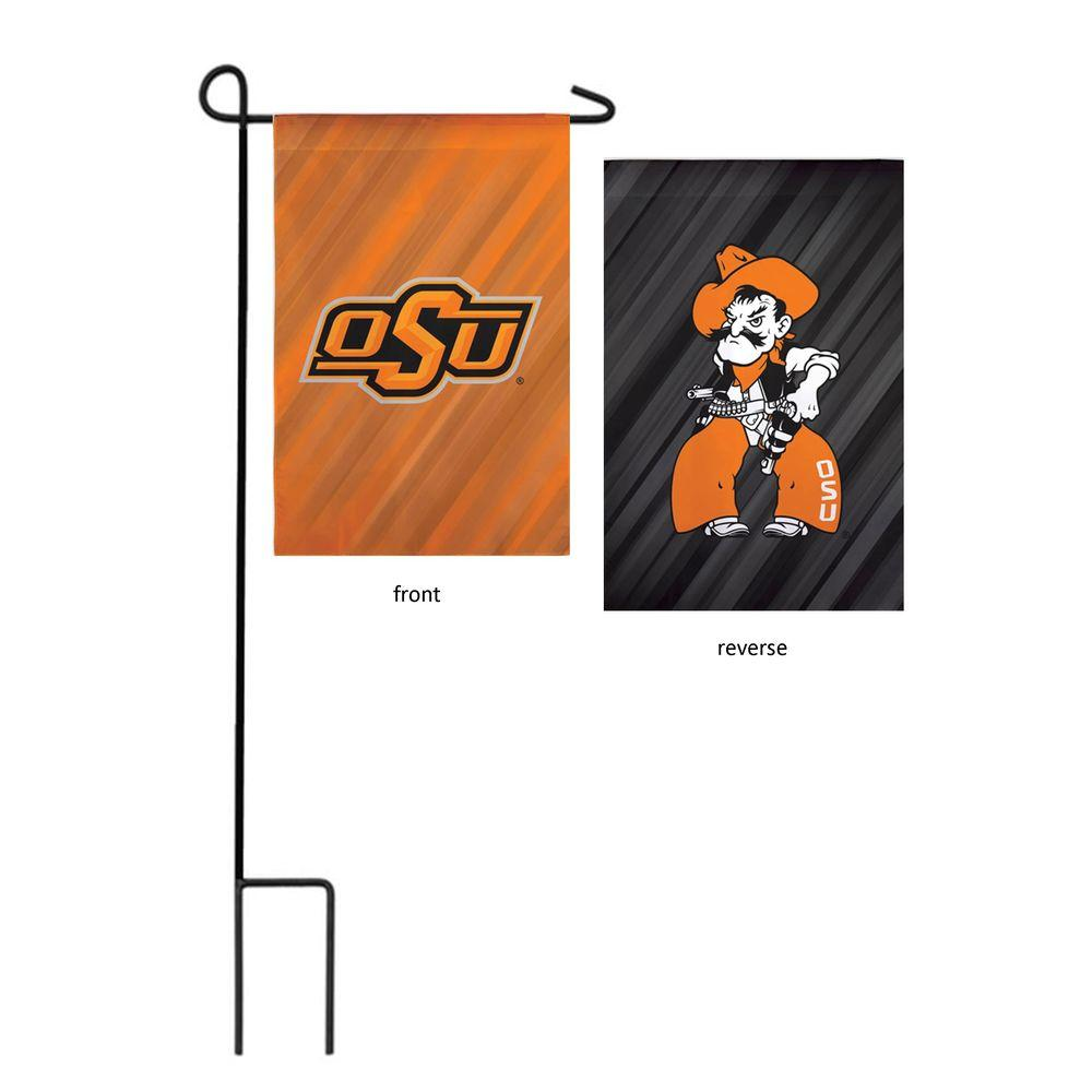 NCAA 18 in. x 12.5 in. Oklahoma State University Suede Garden