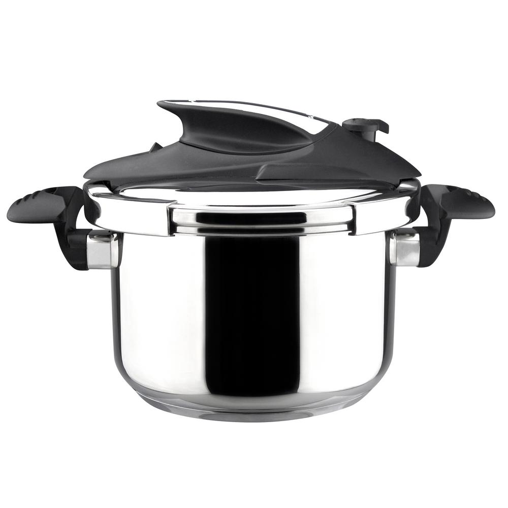 magefesa nova 4 qt stainless steel stovetop pressure cookers 01opnova004 the home depot. Black Bedroom Furniture Sets. Home Design Ideas