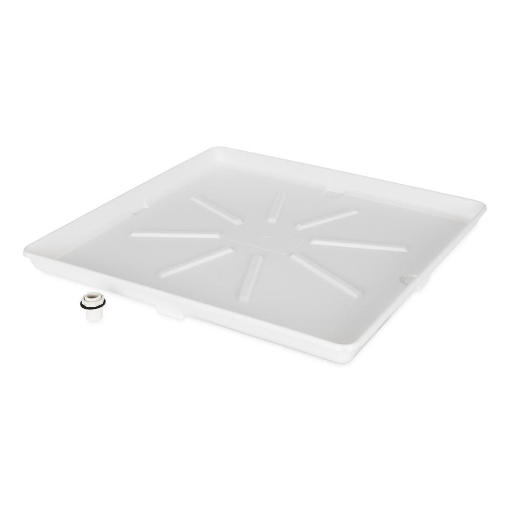 Camco 30 0 In X 32 0 In Washing Machine Drain Pan With Cpvc Fitting 20756 The Home Depot
