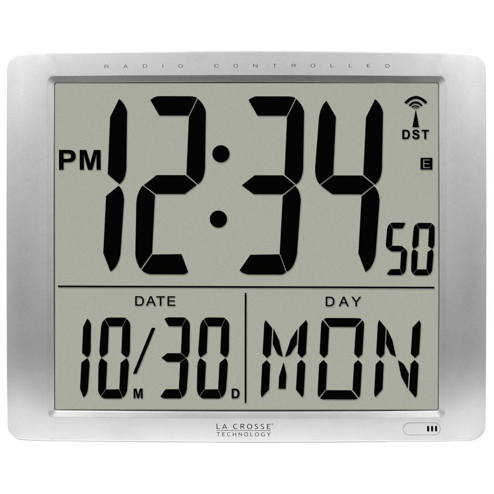 La crosse technology 16 in x 20 in super large atomic digital la crosse technology 16 in x 20 in super large atomic digital wall clock amipublicfo Image collections