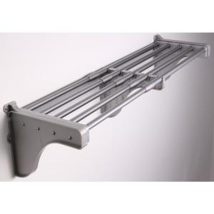 12 in. D x 42 in. to 75 in. W x 10.5 in. H Expandable Silver Steel Tubes with 2 End Brackets Shelf Only Closet System