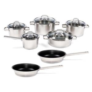BergHOFF Manhattan 12-Piece 18/10 Stainless Steel Cookware Set with Lids by BergHOFF